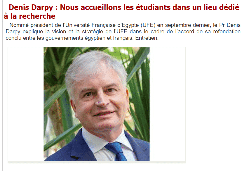 Denis Darpy: Dedicating our Efforts to Research, We Welcome Students to the Future of Education